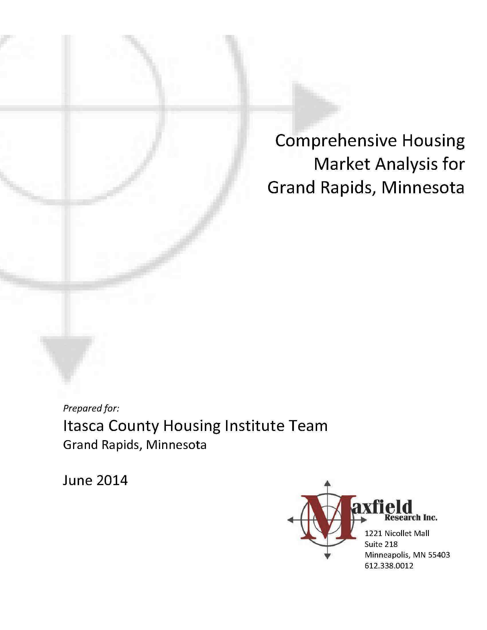 2014 Grand Rapids Area Housing Market Analysis-Cover