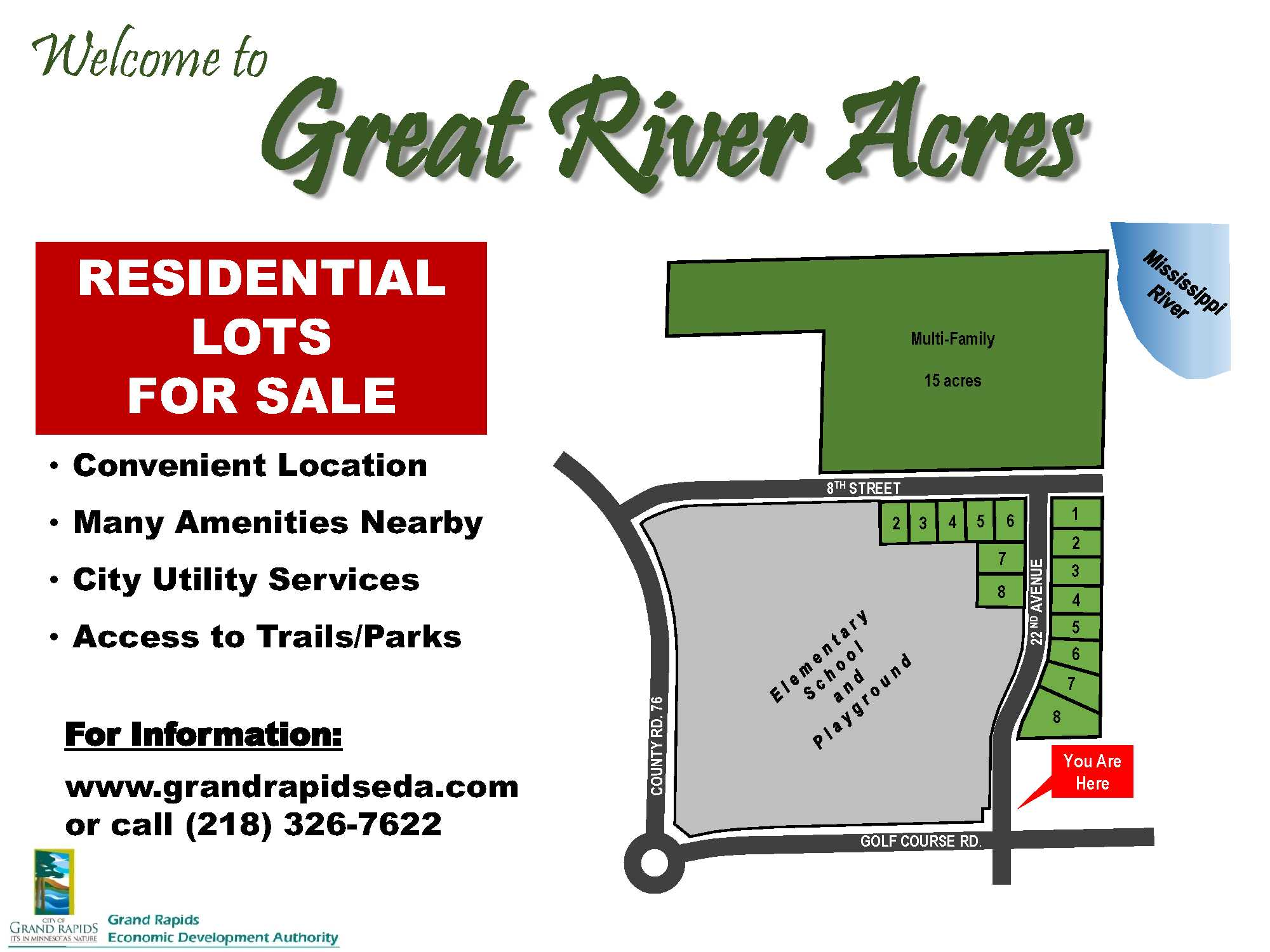 Great River Acres-Development-sign